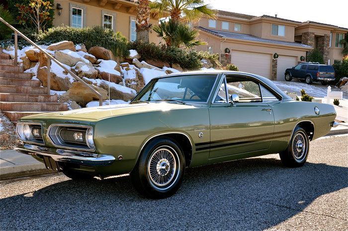FULLY DOCUMENTED ROTISSERIE RESTORED AND 1 OF 1968 PLYMOUTH BARRACUDA 383 FORMULA S HARDTOP IS NO EXCEPTION YOU SIMPLY CANNOT GO WRONG INVESTING