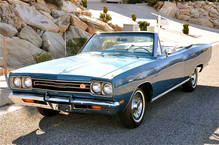 1969 Plymouth Sport Satellite Convertible Red Hills Rods