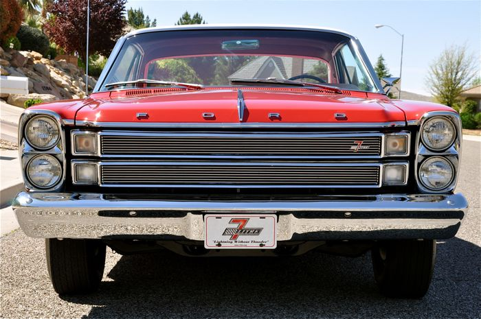ford galaxie   litre red hills rods