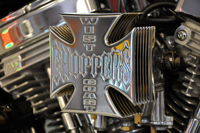 Maltese Cross Air Cleaner : West coast choppers dominator red hills rods and