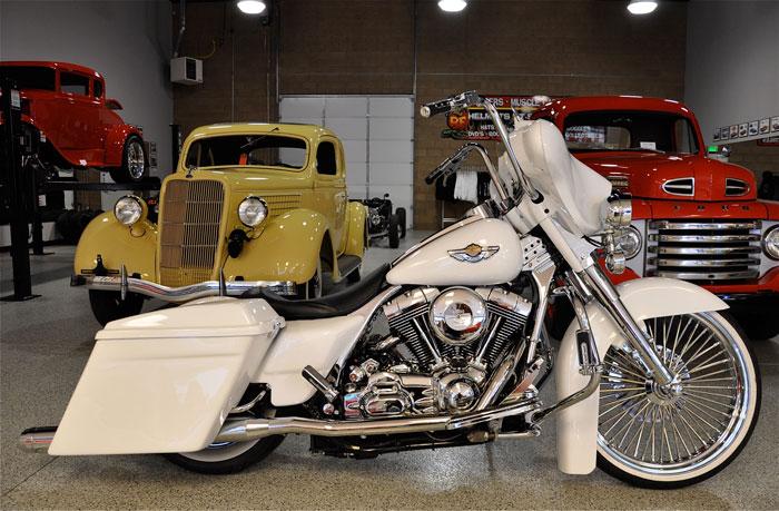 2007 Harley Davidson Custom Bagger Red Hills Rods And
