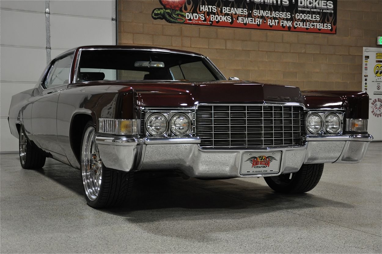 1969 Cadillac Coupe Deville Custom Red Hills Rods And