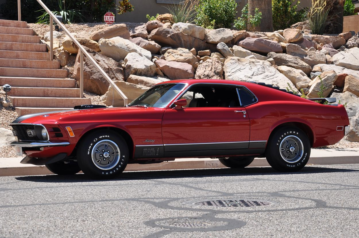 1970 ford mustang mach 1 428 cobra jet red hills rods and choppers inc st george utah
