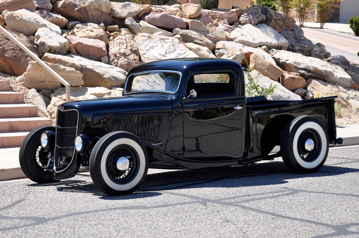 1936 Ford Pickup Chopped Kustom Red Hills Rods And