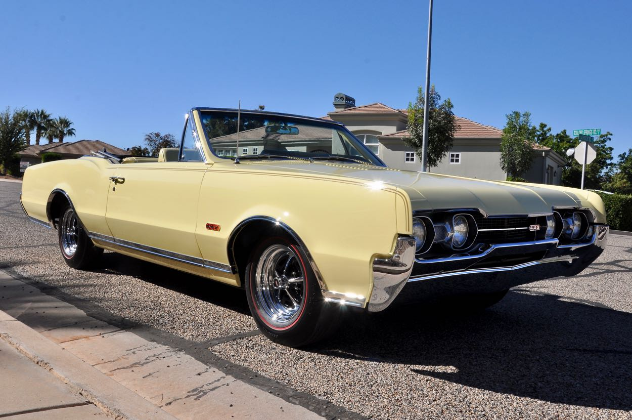 1967 Oldsmobile 442 4-Speed Convertible   Red Hills Rods and