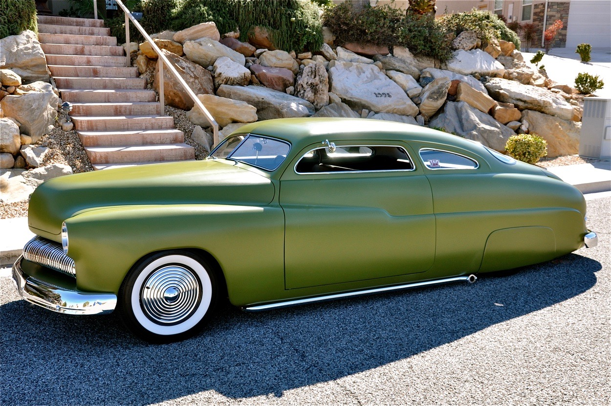 Max Grundy's 1950 Mercury Chopped Coupe | Red Hills Rods and