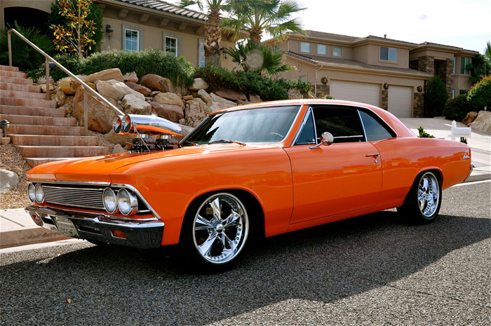 1966 Chevrolet Chevelle Ss 427 Pro Touring Red Hills