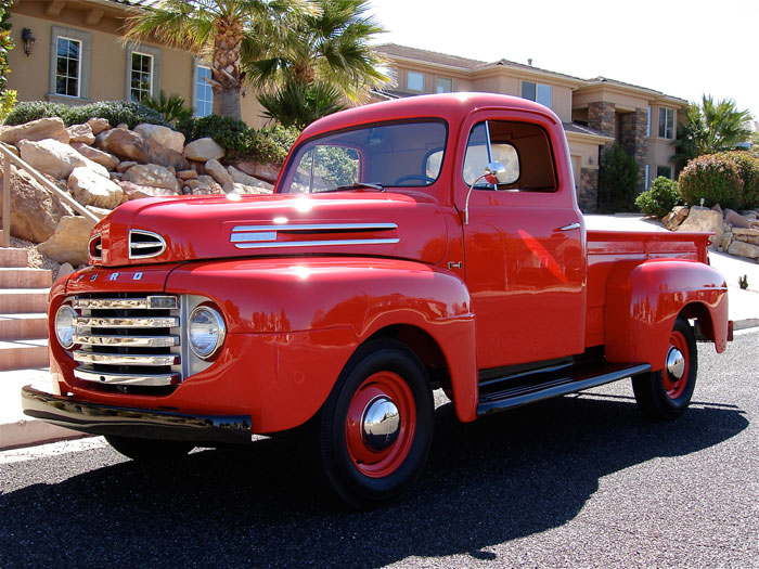 1949 ford f1 pickup red hills rods and choppers inc. Black Bedroom Furniture Sets. Home Design Ideas